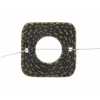 Pewter Connector - Square Closed Weave 19mm Antique Brass